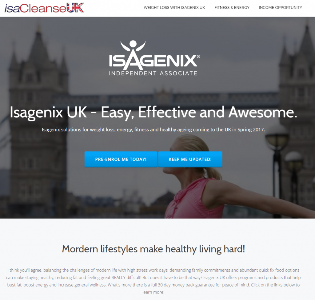 isaCleanse UK